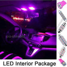 INTERIOR CAR LED LIGHT BULBS KIT - XENON Pink For HONDA CIVIC VIII MK8  - SMD