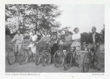 "+PC-Downey, CA-Postcard-""On Bicycles-The Eight Tuesday Bridge Club""  (A28-2)"