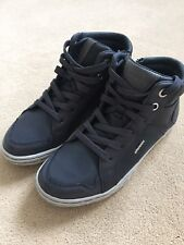 GEOX RAGAZZO J Garcia B Sneaker Alte UK 13 navy EU 32 WAXED LEATHER