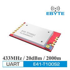 E41-T100S2 SMD UART 100mW 2km 433MHz long range wireless transceiver module