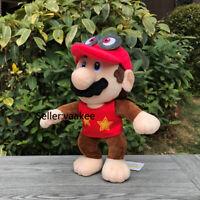 "Super Mario Odyssey Plush Cappy Hat Mario Fusion Diddy Kong Stuffed Toy Doll 11"""