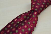 Robert Talbott Best of Class Red Green Floral Geometric Silk Tie