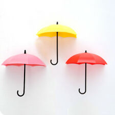 3pcs/set Cute Umbrella Wall Mount Key  Wall Hook Hanger Organizer Holder Durable