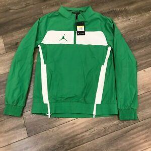 New Nike Jordan Team Woven Pullover Jacket Mens Small Green CD2218-377