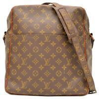Louis Vuitton Marceau M40264 Monogram Shoulder Crossbody Bag Unisex Brown LV