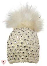 Alex Max unique designer embellished Fur Pon Pon Hat - Penna - Design From Italy