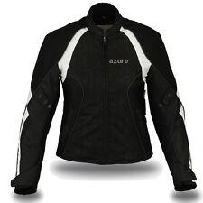 Ladies Motorbike Motorcycle Waterproof Cordura Jacket  BW,SLIM FIT 2XL (Size-12)