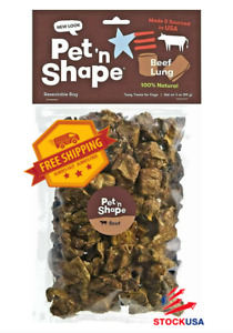 Pet 'n Shape Beef Lung Dog Treats All Natural Healthy Treat Bites for Dogs, 3 Oz