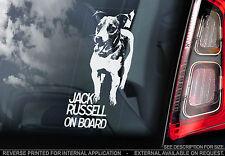 Jack Russell Terrier - Car Window Sticker - Dog on Board Sign Gift Art - TYP1