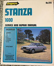 DATSON STANZA 1600  GL-GX-SSS 1978-1983Service & Repair Manual Gregory's No 205