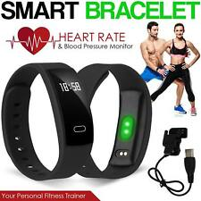 Bluetooth Smart Watch Fitness Bracelet Heart Rate Blood Pressure Monitor Tracker