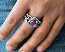 Paparazzi Peacefully Peaceful Purple(Shades Vary) Stretchy Ring