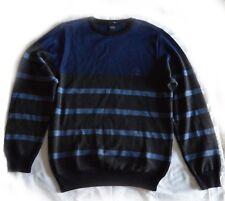 Brand New Paul & Shark  Wool Blend  Sriped Crewneck Logo Sweater Sz M