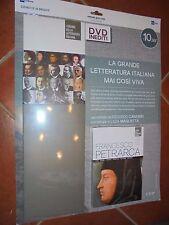 DVD N° 2 + BOX I GRANDI DELLA LETTERATURA ITALIANA PETRARCA VITA OPERE STORIA