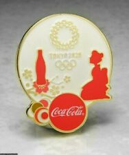 OLYMPIC PINS BADGE 2020 TOKYO JAPAN COKE COCA COLA WORLDWIDE SPONSOR GEISHA