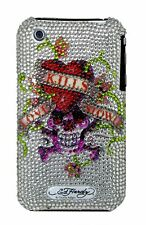 Ed Hardy Love Kills Slowly White Crystal Case for Iphone 3G/s
