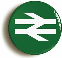 BRITISH RAIL RAILWAYS RETRO GREEN LOGO BADGE BUTTON PIN (1inch/25mm diameter)