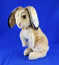VINTAGE STEIFF MOHAIR SITTING RABBIT JOINTED HEAD EAR BUTTON 1950'S