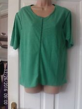 GREEN SHORT SLEEVED TOP, SIZE 14