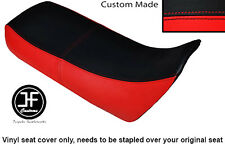 RED AND BLACK VINYL CUSTOM FITS HONDA XRV 750 AFRICA TWIN 96-03 DUAL SEAT COVER