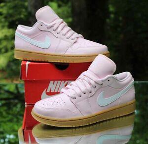 Nike Air Jordan 1 Low Arctic Pink Gum Women's Size 8.5 White Brown DC0774-601