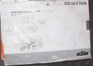 KTM 250 SX-F SPARE PARTS MANUAL : ENGINE  2009