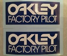 Vintage BMX Oakley Factory Pilot BLUE decal sticker set Old School Fox FMF