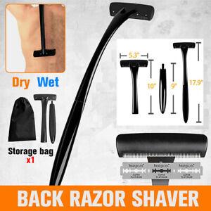 Back Hair Removal Body Shaver Ergonomic Handle Shave Wet/Dry Back Razor Shavers
