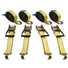 4x Tie Down Straps 2 in. x 27 ft. 10000 LBS J-Hook Tough Ratcheting Cargo