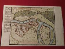 ANTIQUE PETERWARDEIN ( PETROVARADIN ) MAP 18 CENTURY