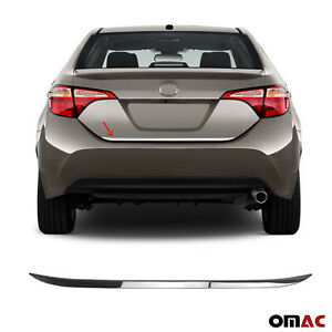 Fits Toyota Corolla 2014-2019 Chrome Tailgate Trunk Trim Moulding S.Steel