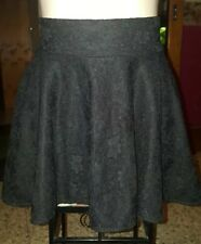 WOMENS Sz XS black floral lace skirt LOVELY! ZIPS AT BACK!
