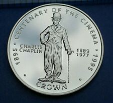 Gibraltar  1996 Crown  -  Charlie Chaplin