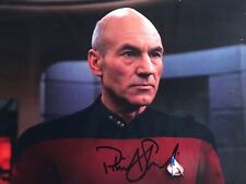PATRICK STEWART STAR TREK SIGNED AUTOGRAPHED 8x10 COLOR PHOTO COA