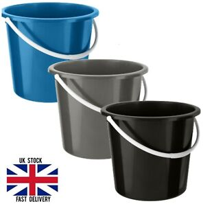 10L Plastic Bucket With Handle Household Water Carrier Storage Home Garden New