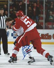 Jonathan Ericsson Signed 8x10 Fight Photo Detroit Red Wings Autographed COA