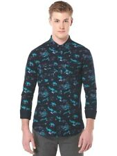 NEW Original Penguin Heritage Slim Fit Long Sleeve Flannel Shirt, size M, Black