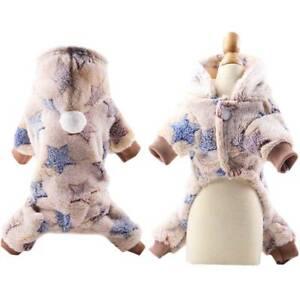Puppy Dog Fleece Harness Vest Pet Winter Sweater Hooded Coat Jacket Apparel