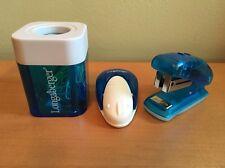 Longaberger Homestead Desk Accessory Set - Stapler, Memo, Paper Clip Holder