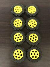 6 mm X4 pièces LEGO Part 3641//4624 roues 8 mm D.X 6 mm avec NOIR PNEU 15 mm D
