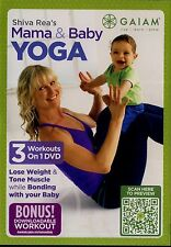 BRAND NEW DVD (NEW WITHOUT SHRINKWRAP) // GALAM // MAMA & BABY YOGA ,SHIVA REA