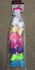 NEW Girl Hair Clip Bow Set Ribbon Pink White Purple Closet Organizer Hanger Gift