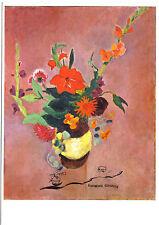 Kunstpostkarte  -  August Macke : Strauß mit Gladiolen