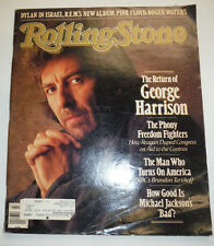 Rolling Stone Magazine George Harrison & Michal Jackson October 1987 021715R