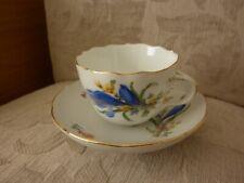 More details for meissen blue flower crocus cup and saucer