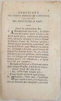 PREGHIERE CHE SERVIR POSSONO DI CORONCINA DIVINO CUORE DI GESU 1832 OPUSCOLO