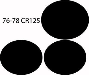 76 77 78 1976 1977 1978 Honda CR125 CR 125 Number Plate Background Decal Sticker