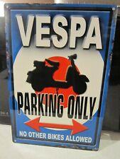OG Lambretta Parking Seulement Petit Panneau en Acier 200mm x 150mm