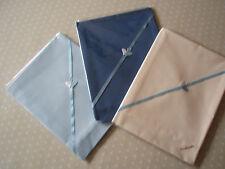 Baby bedding 3 Handmade Polycotton Flat sheets-Blue,Dark Blue & Cream-Crib/moses