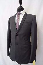 Men's  Topman Grey Striped Slim Fit Suit Jacket Blazer 38R CC5235